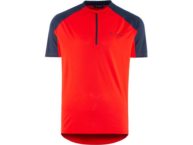 VAUDE SE Me Maro T-shirt Halve Rits Heren, mars red